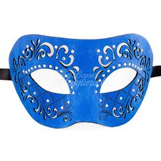 Mens Leather Masquerade Mask Masquerade Mask Leather Mask Royal Blue Mask Mardi…