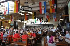 Hofbrauhaus in Newport, Kentucky. Pretzels and beer and Germans, oh my!