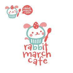 D-Cafeさんの提案 - rabbit march cafe のロゴデザイン | クラウドソーシング「ランサーズ」 Typography Logo, Logos, Logo Branding, Branding Design, Cafe Logo, Bakery Logo, Graphic Design Fonts, Japanese Graphic Design, Bunny Logo