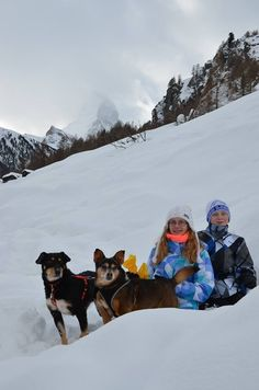Herba enjoying the mountains with her new family
