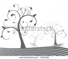 stock-vector-a-forest-of-stylized-trees-44107696.jpg (450×389)