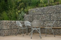 Gabion Wall Ten Eyck Landscape Architects Inc What Plants