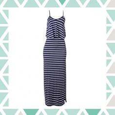 Vestido longo listrado | Shalon Modas | Feira Shop
