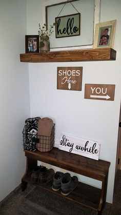 Funny remove your shoes sign Shoes here by OurLittleCountryShop