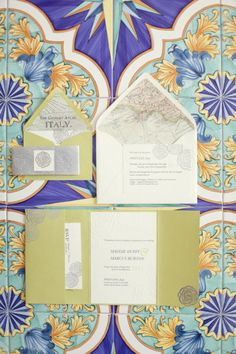 Vintage Map & Destination Italy ~ Wedding Invitation -- I wish!