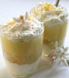 limoncello tiramisu (lemon syrup cake and lemon curd recipes) I can use my birthday gift! The limoncello Mini Desserts, Lemon Desserts, Lemon Recipes, Just Desserts, Sweet Recipes, Delicious Desserts, Dessert Recipes, Yummy Food, Plated Desserts