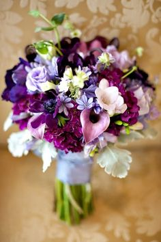 lavender, purple and blue