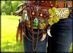 Hand Made Fantasy Zelda Belt Pack by *Wood-Splitter-Lee on deviantART