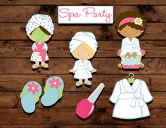 Spa party photo booth printables INSTANT by MyHeartnSoulBoutique Spa Cupcakes, Spa Party Cakes, Spa Cake, Cupcake Party, Spa Birthday Parties, Slumber Parties, Teen Parties, Teen Birthday, Sleepover