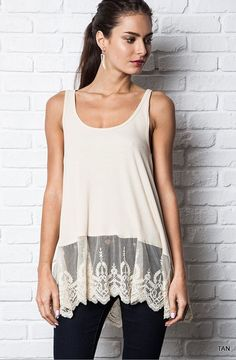 Umgee Lacey Ribbed Tank-Tan-Size MEDIUM #Umgee #Tank #Casual