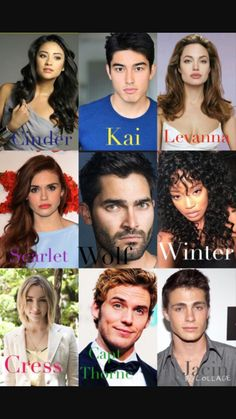 Jason is blonde. But otherwise? YASSSSSS! But I don't agree with Kai, scarlet and wolf<<Kai is OK but Thorne is PERFECT!!!