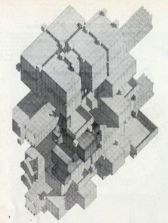 RNDRD is a partial index of architectural drawings and models scanned from design publications throughout the century. Architecture Drawings, Amazing Architecture, Architecture Design, Axonometric Drawing, Conceptual Drawing, Abstract Geometric Art, Architectural Section, Photoshop, Technical Drawing