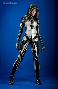 Futuristic Look / Future Girl, Futuristic Clothing, Cyber Girl, Sci-Fi, Mass Effect Kasumi costume!
