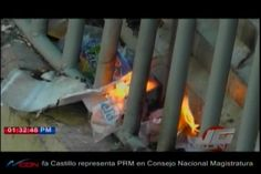 Los Presos De La Carcelita Del Palacio De Justicia Santiago Protestaron Hoy