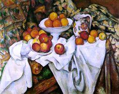 Apples and Oranges by Paul Cezanne - Canvas Art Print Jig Saw, Bouquet Bleu, Cezanne Still Life, Paul Cezanne Paintings, Orange Wall Art, Oil Painting For Sale, Art Moderne, Cultural, Your Paintings