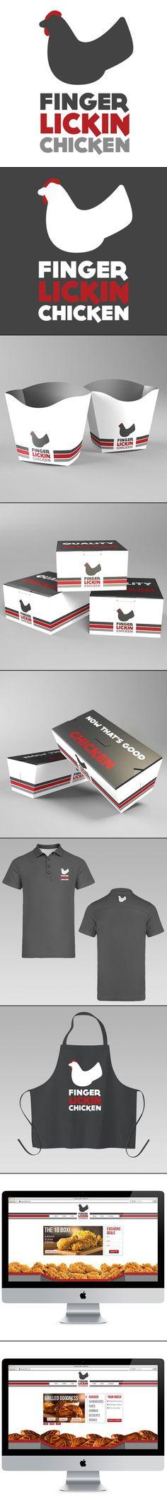 Finger Lickin Chicken Lunchtime #identity #packaging #branding #marketing PD