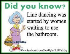 Because no matter how old you get you still love to go dancing!!! I love that!