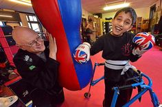 Little fighter Hassan defies cerebral palsy to become kickboxer