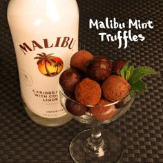 Malibu Mint Truffles are the perfect chocolate treat after dinner, and are a great gifting option!