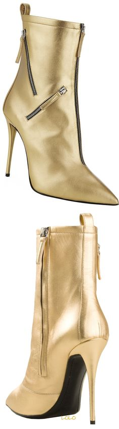 Giuseppe Zanotti Design Zip Accent Ankle Boots #Shoes #Heels #Booties