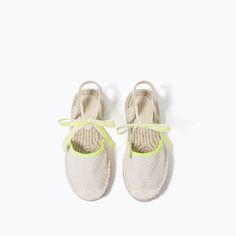Image 4 of LACE-UP JUTE ESPADRILLES from Zara