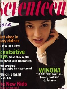 Check out a young Winona Ryder on our December 1990 cover. She'd just starred in Heathers (the original Mean Girls) and was dating Johnny Depp. They eventually broke up, but Johnny was stuck with a 'Winona Forever' tattoo… Ouch!