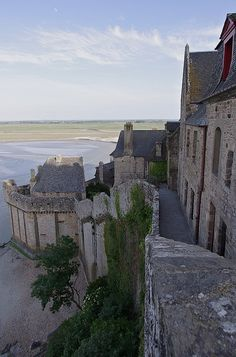 The Ramparts - Mont St Michel, France