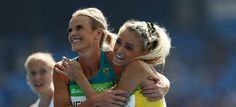 Eloise Wellings (L) and Genevieve LaCaze have excelled in Rio. © 2016 Getty Images
