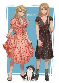 Fullmetal Alchemist Brotherhood, Ed And Winry, Manga Anime, Anime Art, Fulmetal Alchemist, Fanart, Cartoon Shows, Cute Anime Couples, Kawaii Cute