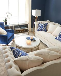 Shop Gigi Sectional Sofa from Haute House at Horchow, where you'll find new lower shipping on hundreds of home furnishings and gifts. Hooker Furniture, Luxury Furniture, Living Room Furniture, Furniture Design, Furniture Decor, Sweet Home, Western Homes, Family Room Design, Round Coffee Table