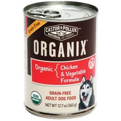 Castor & Pollux Organix Grain-Free Chicken and Vegetable Adult Dog Food, 12.7 Ounce Cans (Pack of 12) @@ For you to view further for this item, visit the image link. (This is an affiliate link and I receive a commission for the sales)