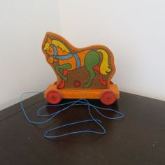 Vintage 1940s Kits Timber Toy Wooden Horse Toy by oZdOinGItagaiN, $28.00