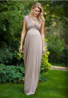 Clara Maternity Gown Long Mocha - Maternity Wedding Dresses, Evening Wear and Party Clothes by Tiffany Rose Maternity Evening Gowns, Maternity Bridesmaid Dresses, Cute Maternity Outfits, Stylish Maternity, Pregnancy Outfits, Maternity Wear, Maternity Fashion, Wedding Dresses, Vestidos Para Baby Shower