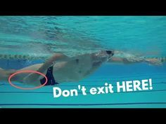 Faster Freestyle Swimming: Part 5. Exiting the Stroke efficiently to reduce drag - YouTube