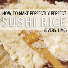 How to Make Perfectly Perfect Sushi Rice, Every Time - 箸 & 寿司 2020 Sushi Rice Recipes, Rice For Sushi, Making Sushi Rice, Best Sushi Rice, Sushi Rice Recipe Rice Cooker, Making Sushi At Home, Japanese Sushi Rice Recipe, Perfect Sushi Rice Recipe, Instant Pot Sushi Rice