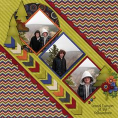 scrapbooking layouts (love the angles. Digital Scrapbooking Layouts, Scrapbook Sketches, Scrapbook Page Layouts, Card Sketches, Scrapbook Designs, Scrapbook Paper Crafts, Scrapbook Cards, Eagle Scout Ceremony, Vacation Scrapbook