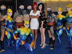 Rihanna and Katy Perry partied hard in Vegas and enjoyed the Cirque du Soleil #Vegas #bachelorette #hen #wedding #celebrity #celeb