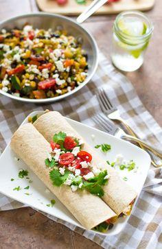 Summer Veggie Burritos |