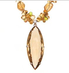 Citrine, Peridot and Sterling Silver