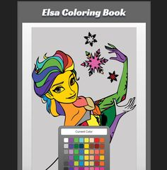 Good And Funny Play Printable Frozen Elsa Coloring Game Use