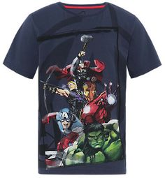 Marks and Spencer Pure Cotton Short Sleeve Avengers T-Shirt on shopstyle.co.uk