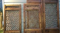 Before pic of salvage Vietnamese doors