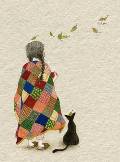 Find images and videos about girl, art and cat on We Heart It - the app to get lost in what you love. Art And Illustration, Cute Images, Whimsical Art, Cute Drawings, Belle Photo, Cat Art, Watercolor Art, Artwork, Paintings