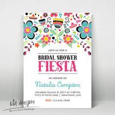 Fiesta Bridal Shower Invitation 1 Customized Digital File