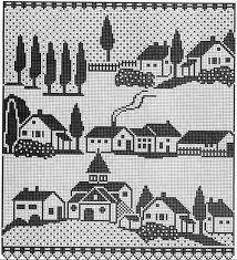 Resultado de imagen para cortinas filet crochet