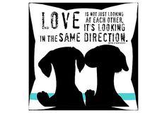 recreate this with dog photos  Dog Love Pillow on OneKingsLane.com
