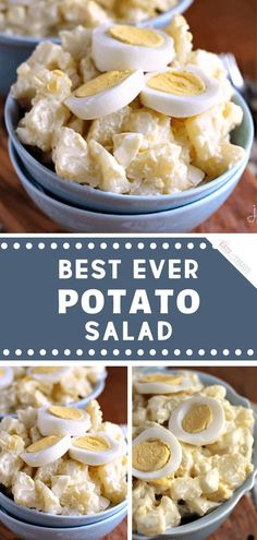 A delicious classic recipe for the Best Ever Potato Salad! Tender potatoes and hard-boiled eggs make this traditional side dish perfect an Easter get- Easter Dinner Recipes, Appetizer Recipes, Deviled Egg Potato Salad, Best Ever Potato Salad, Hard Boiled, Boiled Eggs, Brunch, Fruit Salad Recipes, Salads