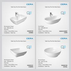 Now Revamp Your Bathroom With Exquisite Range Of Thin Rim Wash Basins Equipped Great Features CERA ReflectsMyStyle ThinRim WashBasins
