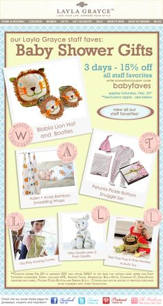 Our Staff Faves Baby Shower Gifts - 15% off for 3 days!