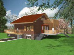 Rénovation d'un chalet Suisse en ossature et bardage bois construit en 1970. Deux extensions ont été ajoutées au chalet. Localisation - Varennes (45)